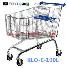 China Unfoldable 190 Litre UK Shopping Cart / Metal Shopping Carts For Kids supplier