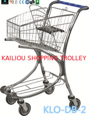 China Chrome Plated Low Carbon Steel Airport Luggage Trolley Cart With Baby Seat 40L supplier