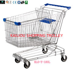 China Asian Style 180liter Steel Wire Shopping Trolleys with swivel casters supplier