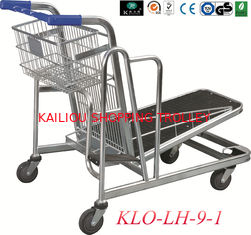 China Heavy Duty Folding Warehouse Trolley With 4x5 Inch Swivel PU Wheel supplier