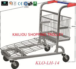 China Chrome Plating Folding Warehouse Trolley With Four Wheels 1115x604x995mm supplier