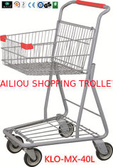 China Chrome Plating Grocery Shopping Trolley 40L / Supermarket Shopping Carts supplier