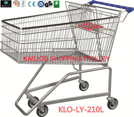 China 210L Grocery Disabled Shopping Trolley With Base Grid / 2 Years Warranty supplier