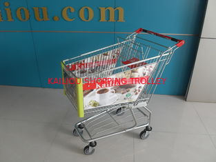 China Colorfull Shopping Trolley with arclic advertisement board supplier