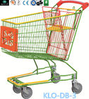 China Caddie style Colorful Zinc Plated Supermarket Shopping Trolley With Advertisement Board 100L factory