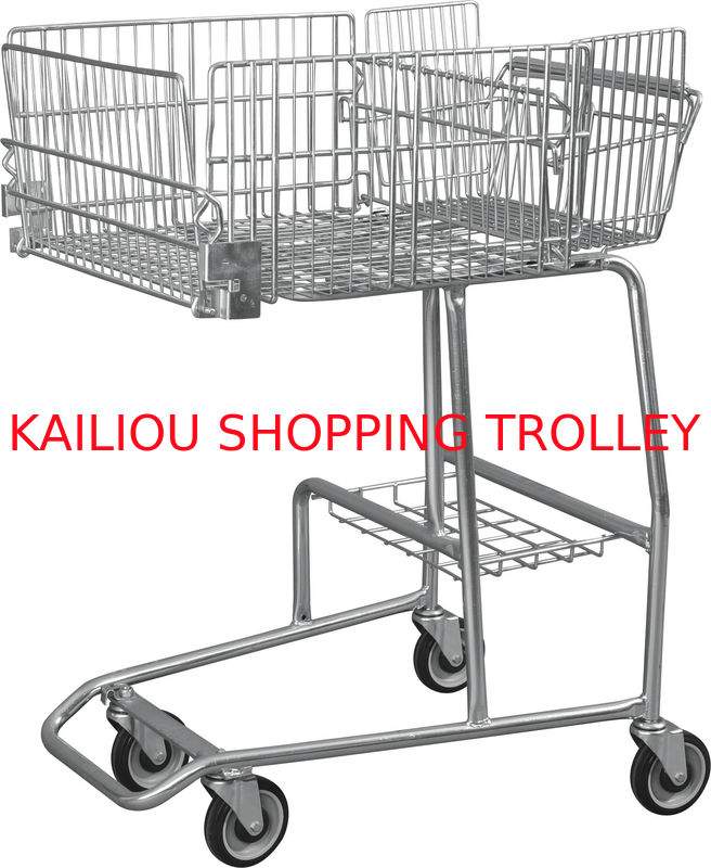 low carbon steel wire basket disabled shopping trolley for