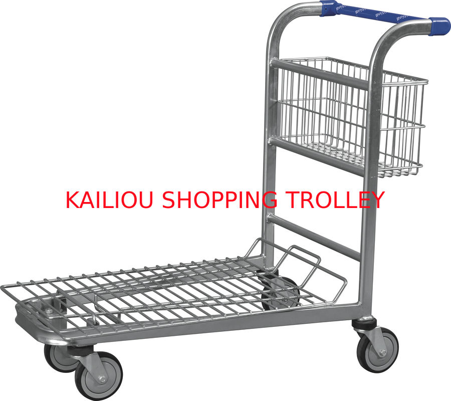 wire metal warehouse trolleys with 4 swivel 5 inch wheels