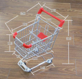 China Q195 Low carbon steel Retail Shop Equipment Metal grocery shopping cart on wheels factory
