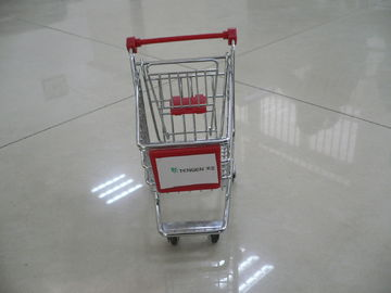 China Mini shopping cart trolley with company sticker with plastic advertising board factory