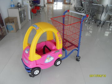 Logo Print Kids Shopping Carts With Baby Car And 4 Rotating Flat Casters