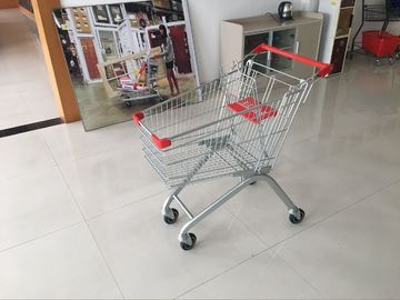 100L PPG powder Steel Supermarket wire shopping cart with Q195 low carbon steel Material