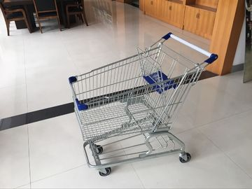 4 Swivel flat castors of Supermarket Shopping Cart Trolley with strong bottom tray