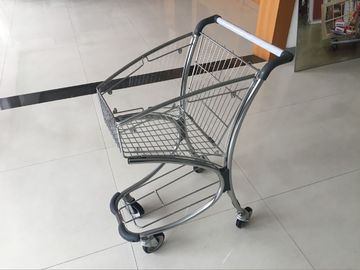 Airport Supermarket Shopping Trolley 40L with transparent powder coating