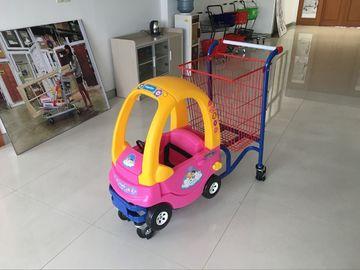 Supermarket kids metal shopping trolley With Baby Car and safety belt