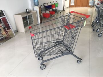 270L PPG powder Steel Supermarket Shopping Carts with anti rust and corrosion