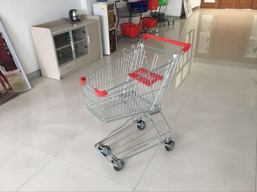 60L PPG powder Steel Supermarket Shopping Carts with anti rust and corrosion