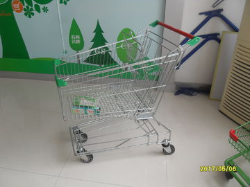 Grocery / Supermarket Shopping 125L Wire Shopping Trolley With 4 Swivel Escalator Casters