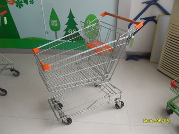 Low Tray Low Carbon Steel Wire Shopping Carts With Wheels 871x525x977mm
