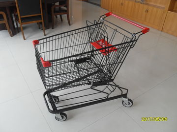 125L Supermarket Shopping Trolley With 4 Swivel Flat Casters 941x562x1001mm