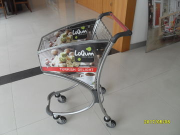 Small Anti Theft 40L Supermarket Shopping Trolley / Airport Shopping Trolley