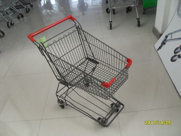 80L supermarket shopping cart of  Four Wheeled with anti UV plastic parts