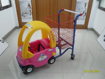 95L Plastic Children / Kids Shopping Carts With red powder coating