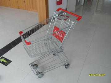 Normal Grocery Store Wire Shopping Trolley with 4 swivel 4 inch PU wheels