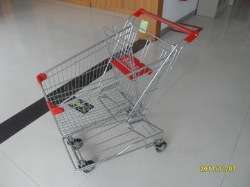 80L Portable Steel Wire Shopping Trolley For Medium Supermarket