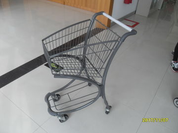 40L Steel Tube Airport / Supermarket Shopping Trolley With Advertisement Board