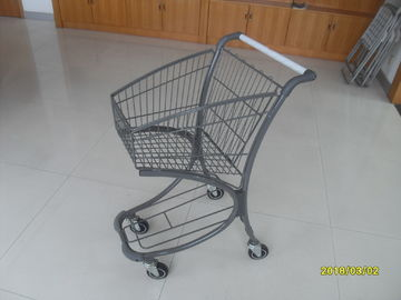 Free Duty Shop 40L Supermarket Shopping Carts , Airport Shopping Trolley