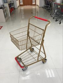 China 40L Folding Grocery Shopping Trolley , Singel Basket Supermarket Shopping Carts factory