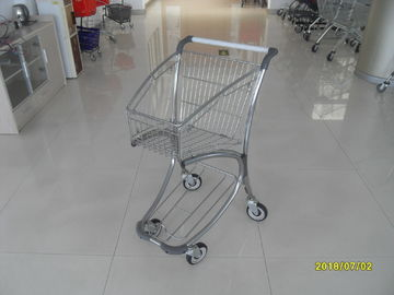 Zinc Plated PPG Powder Coating  Market Shopping Trolley With Elevator Casters