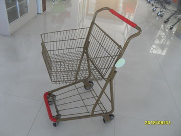 China 40L Folding Grocery Shopping Trolley Q195 Low Carbon Steel For Supermarket factory