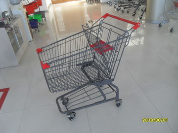 China Custom Logo Grocery Shopping Trolley For Metallic Distribute Store 125L factory