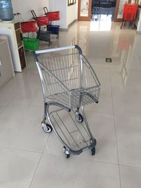 Q195 Low Carbon Steel Supermarket Shopping Trolley Used In Airport Free Duty