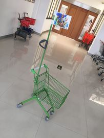 Carbon Steel Play Kids Shopping Carts Flag Logo Pole 465 X 330 X 686mm For Children