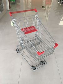 60L Grocery Store Cart , Wire Shopping Trolley With 4 Swivel 4 Inch PU Wheels