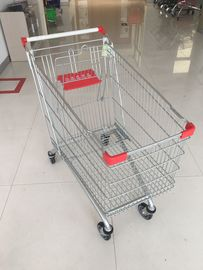Supermarket Shopping Carts 240L Zinc Plated and powder coating for supermarket