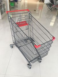 270L Supermarket Shopping Trolley With Anti-UV Plastic parts And 4 casters