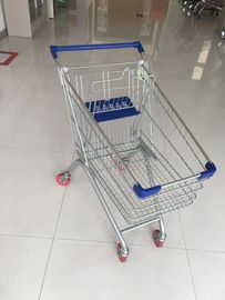 China Steel Supermarket Grocery Shopping Cart With Zinc Plating Clear Powder Coating factory