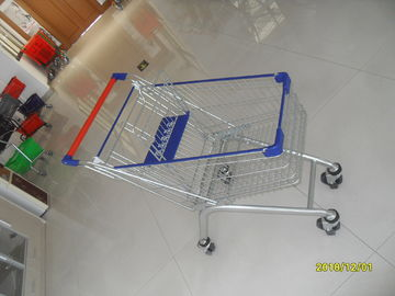 China Anti UV Plastic Parts Vegetable Shopping Trolley For Supermarket , Easy Push Hanle factory