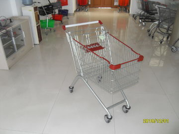 Large Capacity Supermarket Shopping Carts , Wire Shopping Carts With Wheels