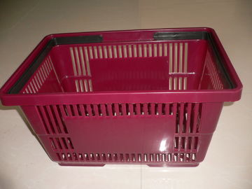 Stackable Large Grocery Plastic Shopping Basket With Double Handles