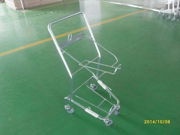 China Four Wheeled Shopping Trolley / Shopping Basket Trolley 50KGS capacity factory