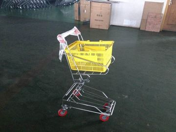 China Chrome plated Shopping Basket Trolley , personal shopping cart factory